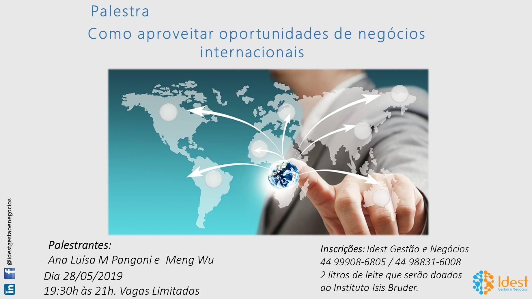 Palestra - Como aproveitar oportunidades de negócios internacionais