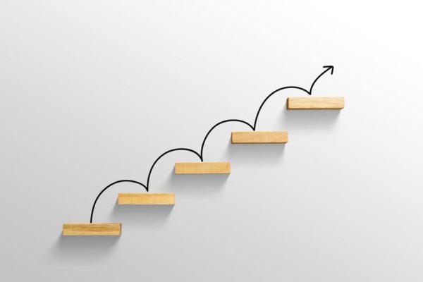 Etapas em formato de escada